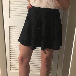 H&M black skater skirt size 8